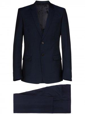 Костюм с однобортным пиджаком Prada. Цвет: синий
