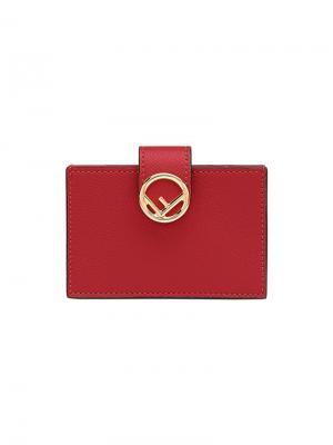Визитница с логотипом Fendi. Цвет: красный