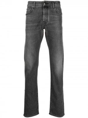 Узкие джинсы средней посадки Jacob Cohen. Цвет: серый