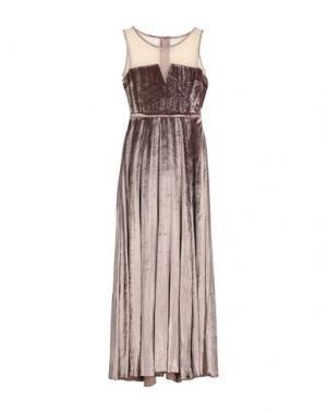 Длинное платье MANGANO. Цвет: голубиный серый