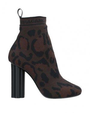 Полусапоги и высокие ботинки SALVATORE FERRAGAMO. Цвет: темно-коричневый