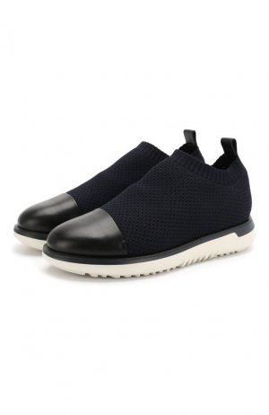 Комбинированные кроссовки Giorgio Armani. Цвет: синий