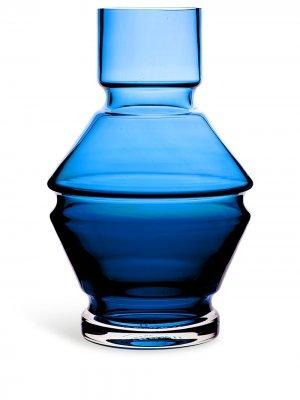 Стеклянная ваза Relæ (26 см) Raawi. Цвет: синий