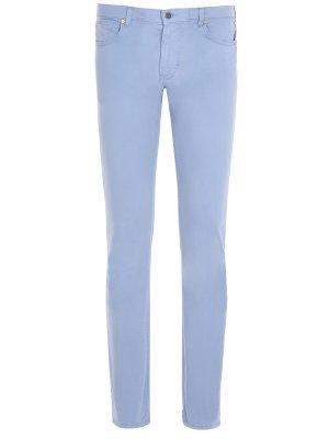 Хлопковые брюки Baldessarini. Цвет: голубой
