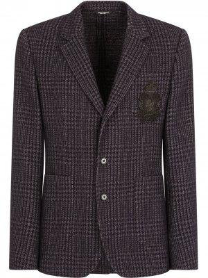 Пиджак в клетку Dolce & Gabbana. Цвет: черный