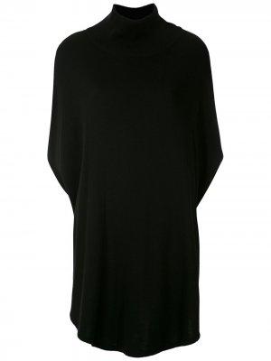 Трикотажная блузка с высоким воротником Gloria Coelho. Цвет: черный