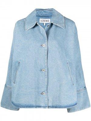 Джинсовая куртка с широкими рукавами LOEWE. Цвет: синий