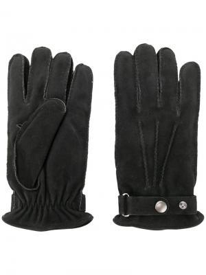 Классические перчатки Lardini. Цвет: черный
