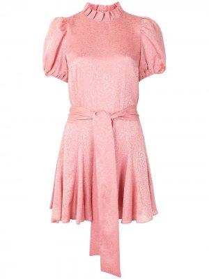 Платье Mina с присборенными рукавами Alice+Olivia. Цвет: розовый