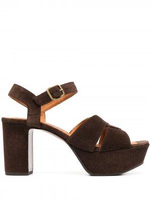 Босоножки F-Dibe на блочном каблуке Chie Mihara. Цвет: коричневый