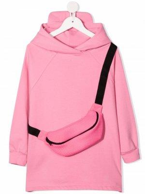 Платье-свитер Evelyn с капюшоном WAUW CAPOW by BANGBANG. Цвет: розовый