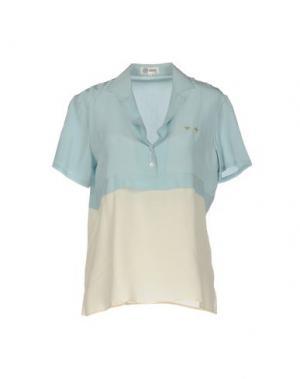 Блузка GILMAR. Цвет: небесно-голубой