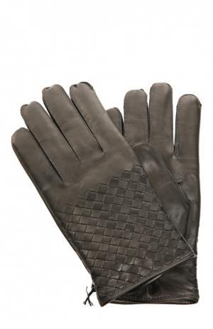 Перчатки Bottega Veneta. Цвет: темно-серый
