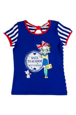 Футболка Betty Boop. Цвет: синий