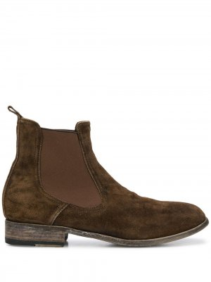 Ботинки челси с эффектом потертости Premiata. Цвет: коричневый