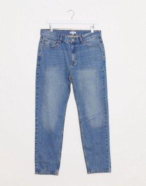 Синие суженные джинсы с прорехами -Синий Bellfield