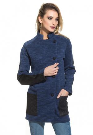 Пальто Gloss Amy. Цвет: синий