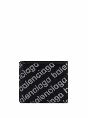 Бумажник Cash Balenciaga. Цвет: черный