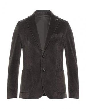 Пиджак EXIBIT. Цвет: темно-коричневый