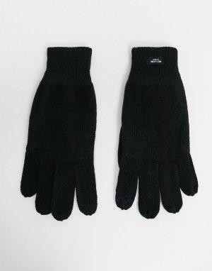 Черные вязаные перчатки -Черный Only & Sons