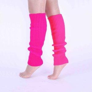 Танцевальные носки в рубчик SHEIN. Цвет: ярко-розовый
