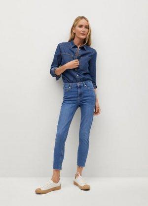 Укороченные джинсы скинни Isa - Mango. Цвет: синий средний