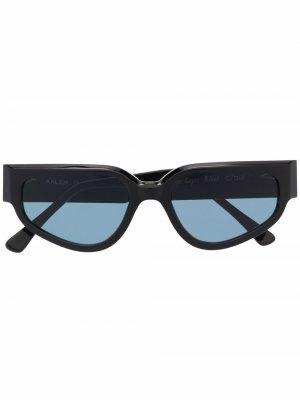 Солнцезащитные очки Passage Lepic в массивной оправе Ahlem. Цвет: черный