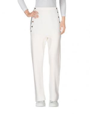 Повседневные брюки 8PM. Цвет: белый