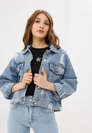Куртка джинсовая Allegri. Цвет: голубой