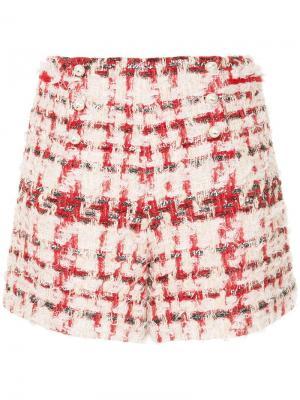 Твидовые шорты с жемчужной отделкой Edward Achour Paris. Цвет: розовый