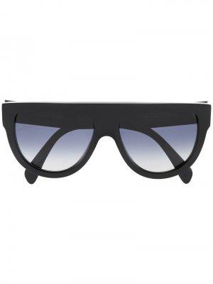 Солнцезащитные очки-авиаторы Celine Eyewear. Цвет: черный
