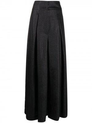 Расклешенные брюки широкого кроя Brunello Cucinelli. Цвет: черный