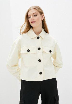 Куртка джинсовая Pimkie. Цвет: белый