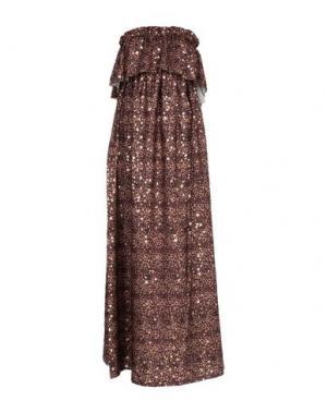 Длинное платье I-AM. Цвет: коричневый