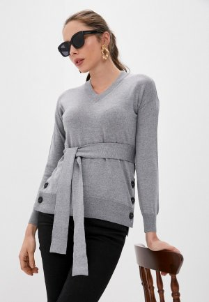 Пуловер Alpha Studio. Цвет: серый
