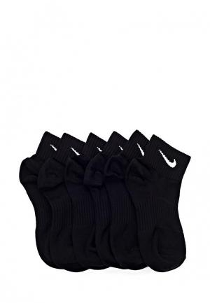 Комплект Nike Unisex Perfect Lightweight Quarter Training Sock (3 Pair). Цвет: черный