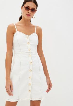 Платье Mango - BOHO. Цвет: белый
