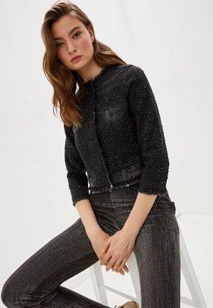 Куртка джинсовая Liu Jo. Цвет: черный