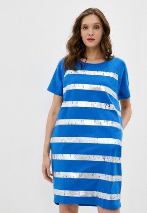 Платье Снежная Королева. Цвет: голубой