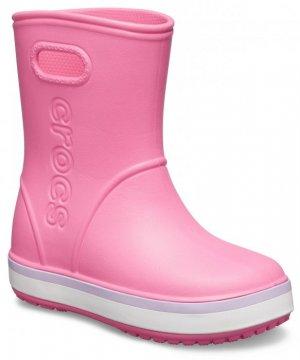 Резиновые сапоги детские CROCS Kids' Crocband™ Rain Boot Pink Lemonade/Lavender арт. 205827. Цвет: pink lemonade/lavender