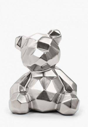 Фигурка декоративная Mandarin Decor Мишка. Цвет: серебряный
