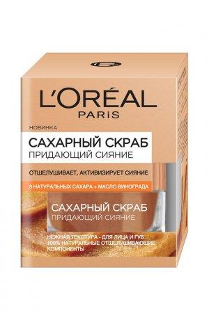 Сахарный скраб для лица LOreal Paris L'Oreal. Цвет: белый
