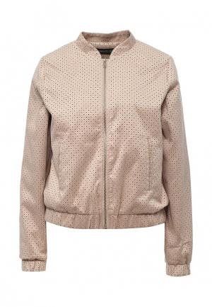 Куртка кожаная Concept Club. Цвет: бежевый