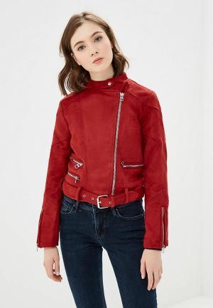 Куртка кожаная Colins Colin's. Цвет: красный