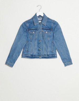 Синяя джинсовая куртка -Синий Abercrombie & Fitch