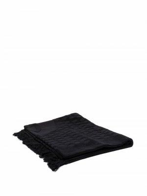 Пляжное полотенце 2010-х годов с логотипом CC Chanel Pre-Owned. Цвет: черный