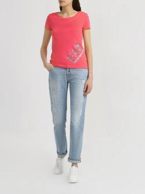 Прямые джинсы J60 Emporio Armani. Цвет: goluboy