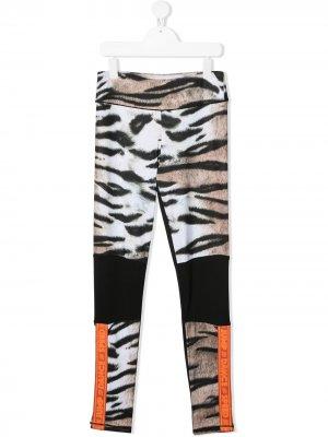 Легинсы с тигровым принтом Molo. Цвет: коричневый