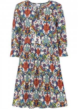 Платье-туника bonprix. Цвет: белый