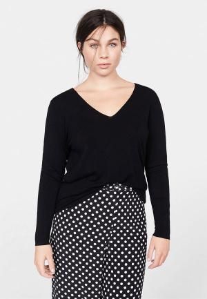 Пуловер Violeta by Mango - LACEING. Цвет: черный